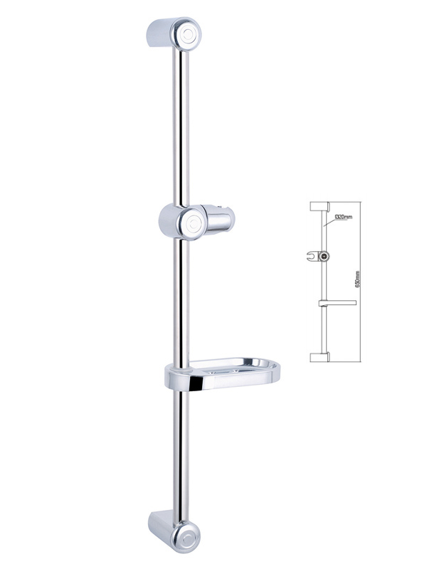 Shower Sliding Bar-Spiral Flow 3-Way Shower Head